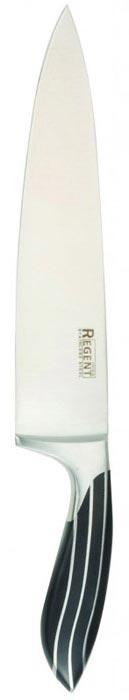 Нож-шеф разделочный Regent Inox Line, длина лезвия 20,5 см93-KN-LI-1Разделочный нож-шеф Regent Inox Line изготовлен из высококачественной нержавеющей стали. Острое лезвие ножа имеет ровную поверхность и выверенный угол заточки. Специальная закалка металла повышает прочность изделия. Сбалансированность ножа обеспечивает приложение минимальных усилий при резке. Лезвие ножа не впитывает запахи и не оставляет запаха на продуктах.Нож с длинным широким клинком идеально шинкует, нарезает и измельчает продукты. Такой нож займет достойное место среди аксессуаров на вашей кухне. Характеристики:Материал: нержавеющая сталь 18/10. Общая длина ножа: 32,5 см. Длина лезвия: 20,5 см. Ширина лезвия: 4,5 см. Артикул: 93-KN-LI-1.