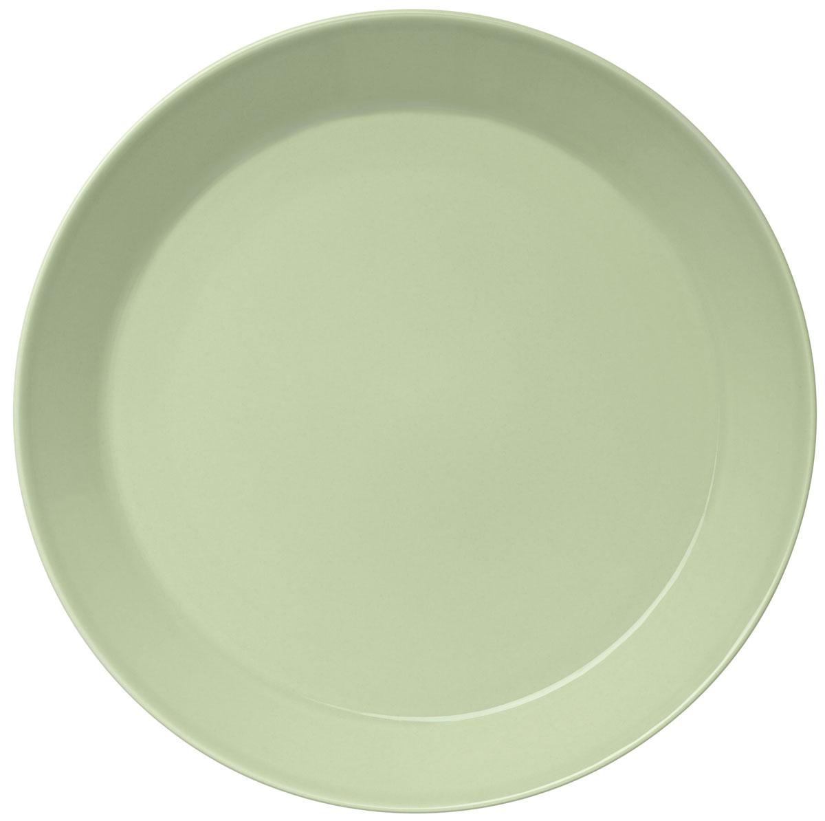 Тарелка Iittala Teema, цвет: зеленый, диаметр 26 см1005972Тарелка Iittala Teema выполнена из качественного жароустойчивого прочного фарфора с долговечным стекловидным эмалевым покрытием. Можно мыть в посудомоечной машине.Диаметр: 26 см.