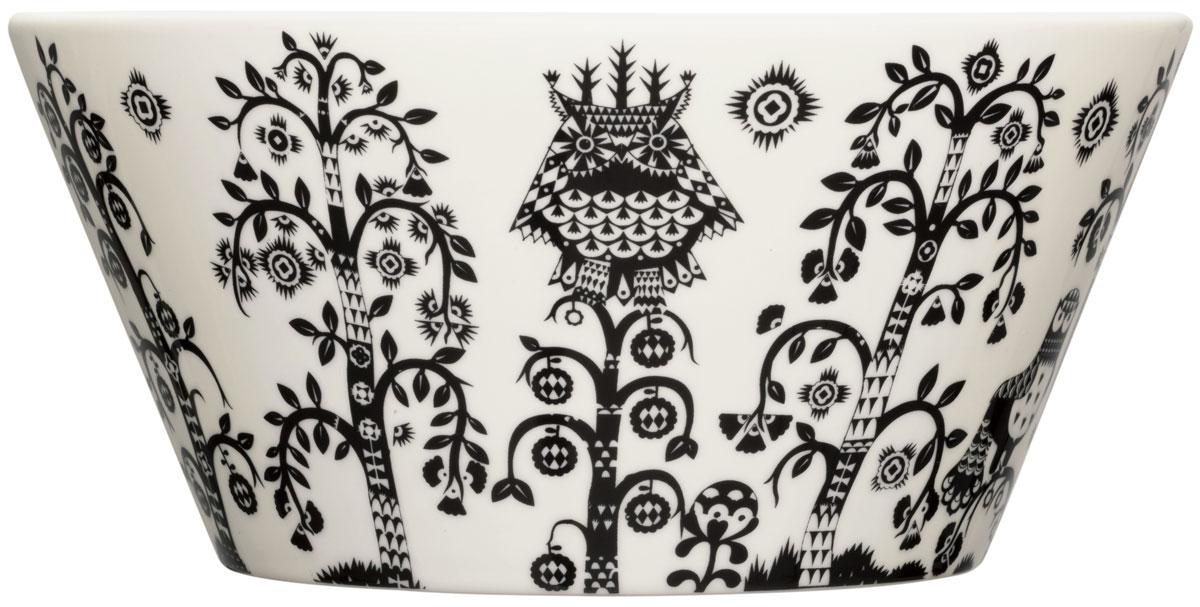 Чаша Iittala Taika, цвет: черный, белый, 2,8 л. 10060191006019Чаша Iittala Taika выполнена из качественного жароустойчивого прочного фарфора. Чаша имеет стильный дизайн, поэтому сможет украсить любую кухню. Можно мыть в посудомоечной машине.Объем: 2,8 л.