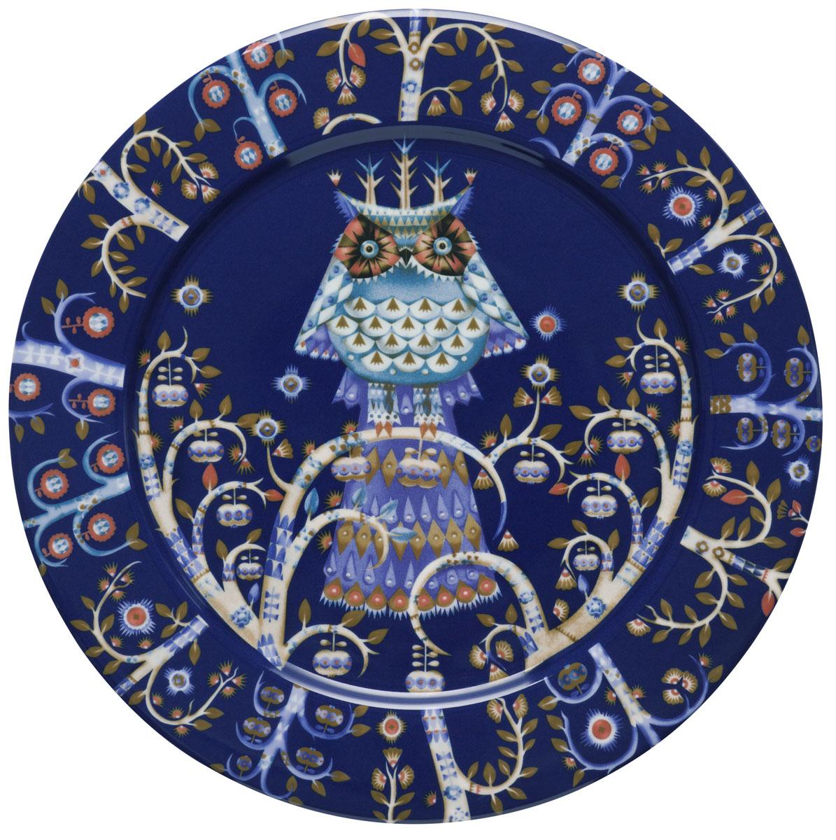 Тарелка Iittala Taika, цвет: синий, диаметр 27 см1011635