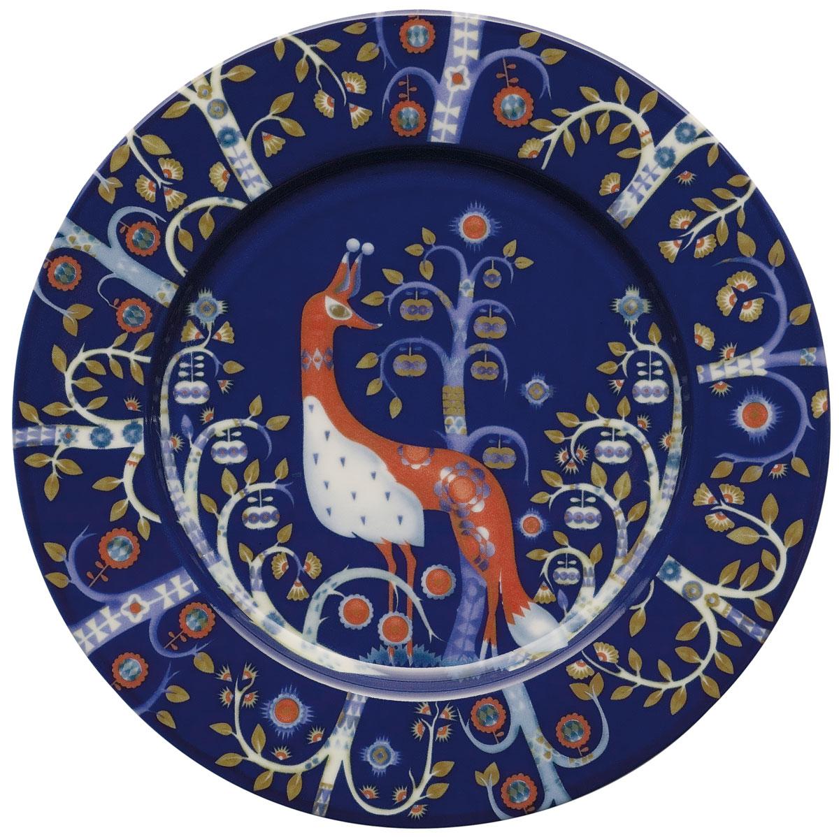Тарелка Iittala Taika, цвет: синий, диаметр 22 см1012442
