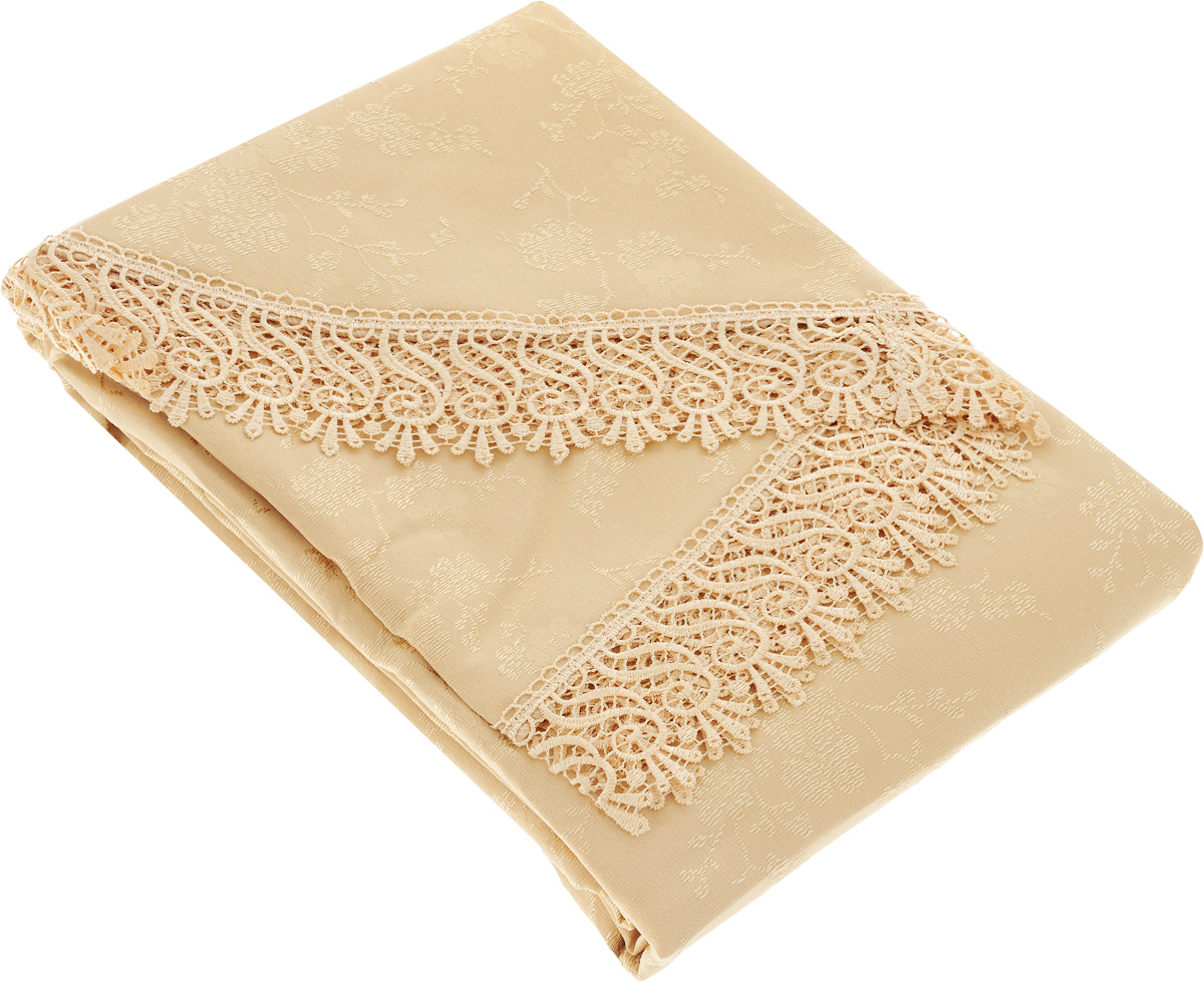 Скатерть Evdy Kdk, овальная, цвет: золотистый, 160 х 300 см скатерть овальная 220х150см цвет бежевый