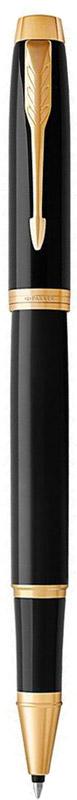 Parker Ручка-роллер IM Black GT1122008Марка Parker гарантирует полную уверенность в превосходном качестве товара. Ручка-роллер Parker IM Black GT будет не только долго служить, но и неизменно радовать удобством и легкостью письма, надежностью в эксплуатации и прекрасным эстетическим исполнением.Ручка-роллер Parker IM Black GT выполнена в корпусе, покрытом черным глянцевым лаком, и имеет хромированную отделку деталей с позолотой. Форма ручки - круглая.Ручка-роллер Parker IM Black GT аккуратно упакована в выдвижной футляр.
