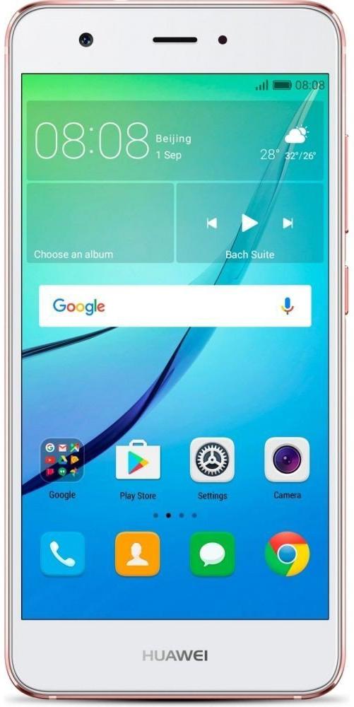 Huawei Nova LTE (CAN-L11), Rose Gold51091AKXHuawei Nova - сочетание элегантности и современных решений. Утончённый и минималистичный дизайн.Создавая Huawei Nova, дизайнеры черпали вдохновение в природе и современной архитектуре, в тонких линиях и контурах, в игре света и тени. Изогнутые грани Huawei Nova дарят ощущение плавности и комфорта. Компактность корпуса достигается за счёт эргономичного расположения внутренних элементов.Задняя панель корпуса Huawei Nova выполнена из аэрокосмического магниево-алюминиевого сплава. Использование технологии пескоструйной обработки позволило создать приятную на ощупь текстурированную поверхность и придать корпусу глянцевый вид. Верхняя часть задней панели выполнена из контрастного глянцевого пластика. Закруглённые края и экран с технологией 2.5D позволяют смартфону идеально располагаться в руке.Основная 12 МП камера смартфона Huawei nova с размером пикселя 1,25 мкм, широкой диафрагмой F2.2 и специальным покрытием объектива, позволяет получить максимально чёткие и яркие снимки.В камере смартфона Huawei Nova используется уникальная комбинация двух технологий автофокусировки: фазовая (PDAF) и контрастная (CAF). Фазовый автофокус используется для быстрой фокусировки, в то время как контрастный сравнивает чёткость двух разных изображений, обеспечивая более высокую степень детализации. Сочетая два режима фокусировки, Huawei Nova позволяет делать высококачественные снимки практически мгновенно.Камера смартфона Huawei Nova позволяет снимать яркие видео в ультравысоком разрешении, фиксируя все мельчайшие детали. Даже при просмотре на большом экране, ваши видео будут выглядеть бесподобно.Ваши селфи станут идеальными благодаря фронтальной камере 8 МП и технологиям Beauty Skin 3.0 и Beauty Make-up 2.0.Сканер отпечатка пальца на задней панели позволяет делать селфи одним касанием.Новые функции режима украшения стали результатом сотрудничества Huawei с мировыми экспертами в области макияжа. Специально подобранные румяна и помада подчеркнут чер