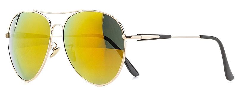 Очки солнцезащитные женские Vitta pelle, цвет: золотистый, зеленый. 1301-2017-805