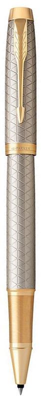 Parker Ручка-роллер IM Premium Warm Silver GT1931686Марка Parker гарантирует полную уверенность в превосходном качестве товара. Ручка-роллер Parker IM Premium Warm Silver GT будет не только долго служить, но и неизменно радовать удобством и легкостью письма, надежностью в эксплуатации и прекрасным эстетическим исполнением.Ручка-роллер Parker IM Premium Warm Silver GT выполнена в корпусе из чернового матового анодированного алюминия, прошедшего пескоструйную обработку, с фирменным гравированным рисунком. Позолоченная отделка деталей с полировкой. Форма ручки - круглая.Ручка-роллер Parker IM Premium Warm Silver GT аккуратно упакована в выдвижной футляр.
