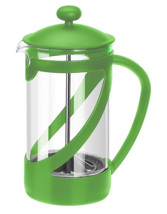 Френч-пресс Attribute Basic Color, цвет: зеленый, 350 млATT351_зеленыйФренч-пресс Attribute Basic Color позволит быстро и просто приготовить свежий и ароматный кофе иличай. Цветовая гамма подойдет даже для самого яркого интерьера. Френч-пресс изготовлен извысокотехнологичных материалов на современном оборудовании:- корпус изготовлен из высококачественного жаропрочного стекла, устойчивого к окрашиванию ицарапинам;- фильтр-поршень из нержавеющей стали выполнен по технологии press-up для обеспеченияравномерной циркуляции воды;- яркая подставка из пластика препятствует скольжению френч-пресса.Практичный и стильный дизайн френч-пресса Attribute Basic Color полностью соответствуетпоследним модным тенденциям в создании предметов бытового назначения.