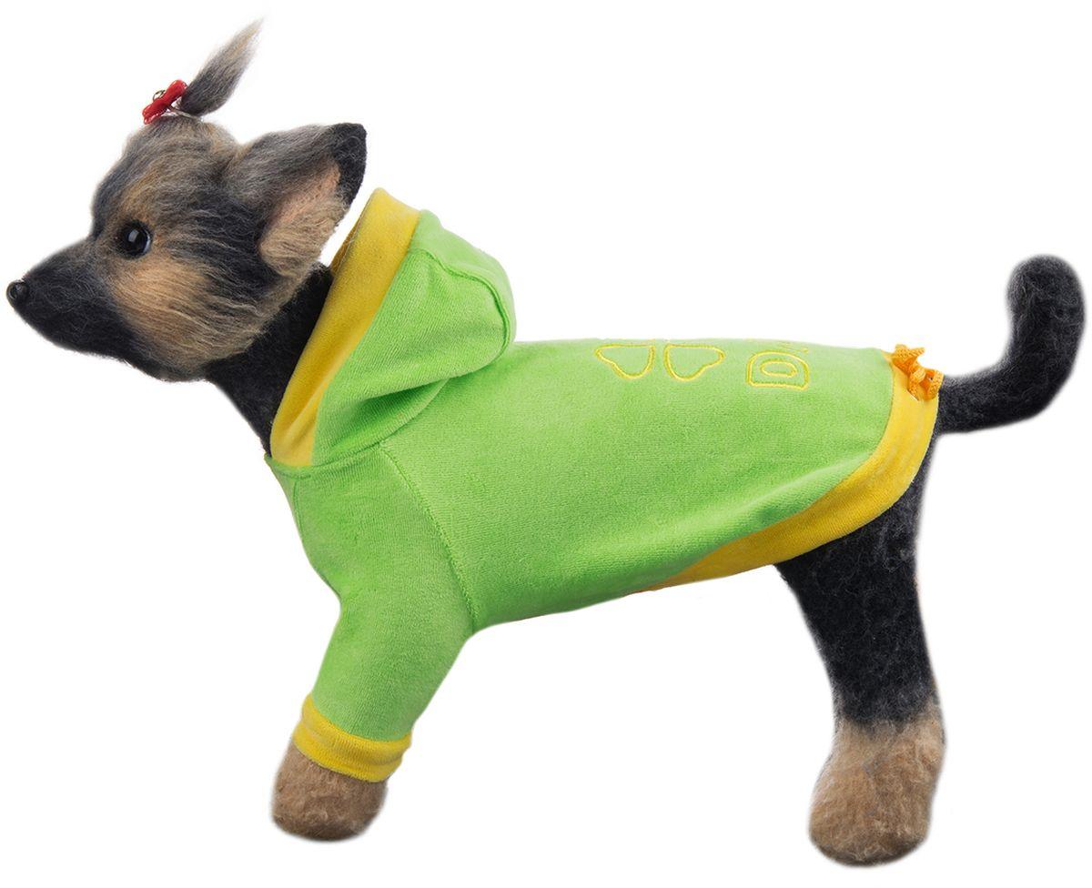 Куртка для собак Dogmoda Хоум, унисекс, цвет: салатовый. Размер 2 (M)DM-150308_салатовыйКомфортная и привлекательная курточка из качественного велюра. Для сухой погоды или дома.Обхват шеи: 25 см.Обхват груди: 39 см.Длина по спинке: 24 см.Одежда для собак: нужна ли она и как её выбрать. Статья OZON Гид