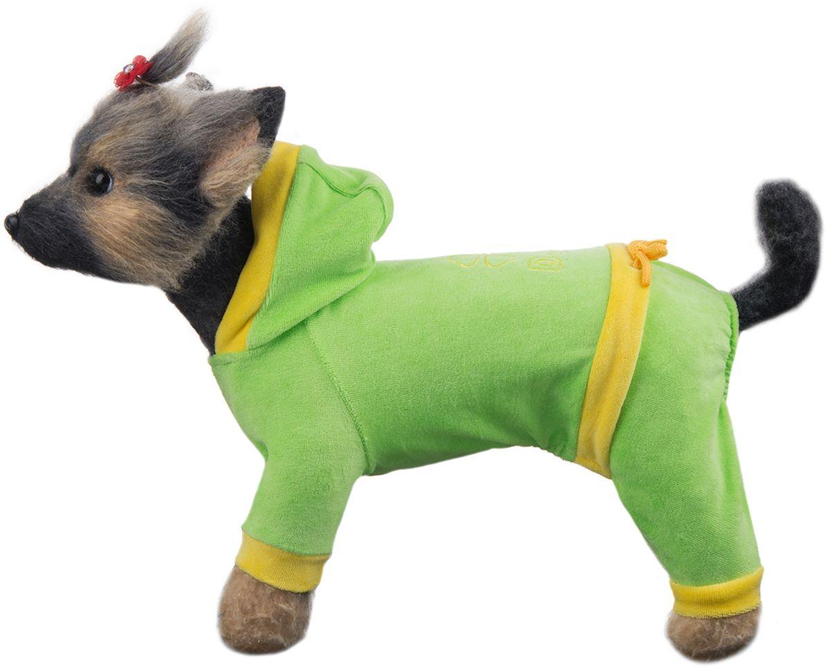 Комбинезон для собак Dogmoda Хоум, унисекс, цвет: салатовый. Размер 4 (XL)DM-150306_салатовыйПрактичный, стильный и недорогой комбинезон из качественного мягкого велюра. Для сухой погоды или дома.Обхват шеи: 33 см.Обхват груди: 52 см.Длина по спинке: 32 см.Одежда для собак: нужна ли она и как её выбрать. Статья OZON Гид