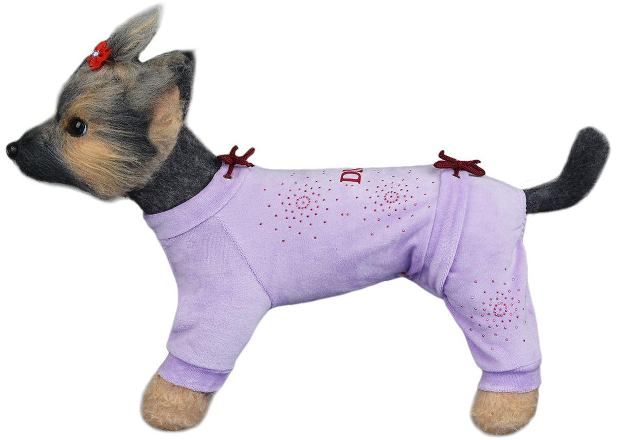"""Комбинезон для собак Dogmoda """"Галактика"""", для девочки, цвет: сиреневый. Размер 3 (L)"""