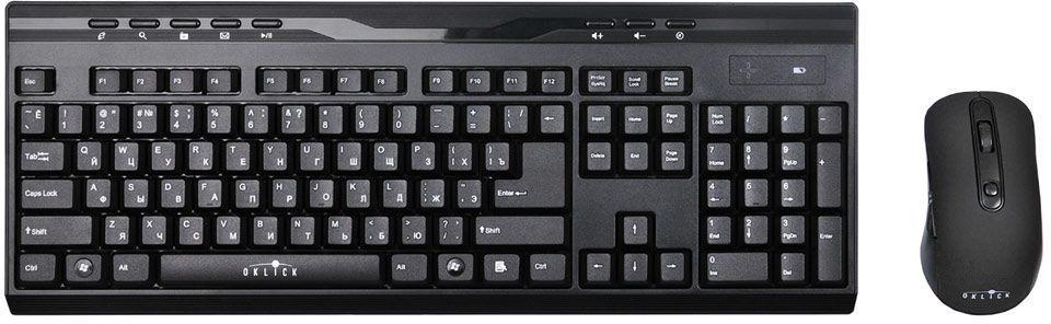 Oklick 280M, Black комплект мышь + клавиатура280M