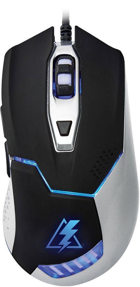 Oklick 875G Electro, Black Silver игровая мышь875GБольшая и удобная мышь Oklick 875G Electro создана для работы и развлечения. Цепкое покрытие боковых граней обеспечивают крепкий захват и удобное положение кисти. Мышь имеет 6 элементов управления, сенсор высокого разрешения 800/1200/1600/2400 dpi, 1,8 м шнур в прочной оплетке, красивую подсветку графических элементов.Как выбрать игровую мышь. Статья OZON Гид