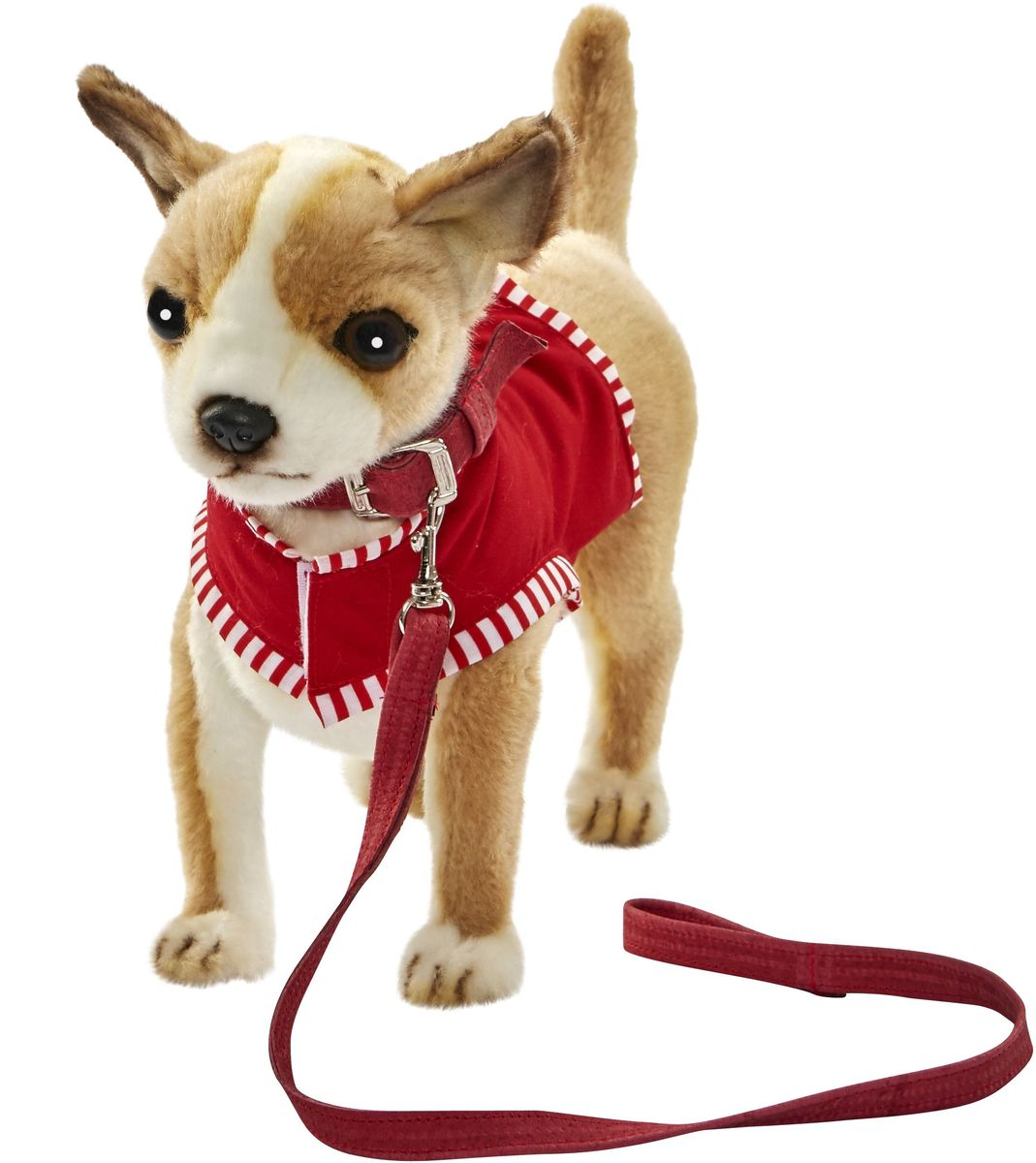 Hansa Мягкая игрушка Чихуахуа цвет красный 27 см