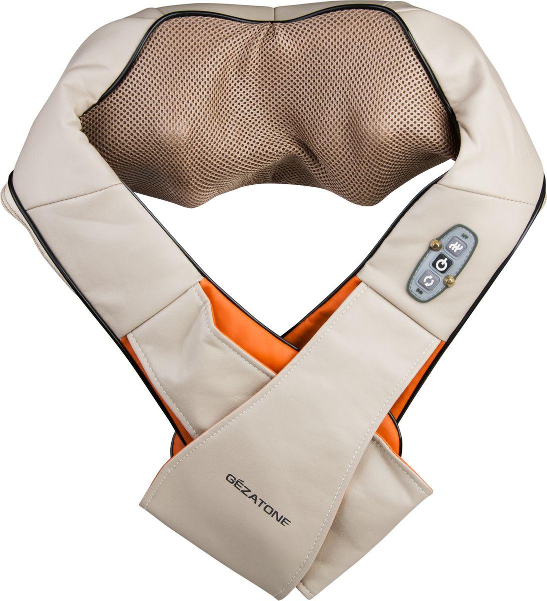 Gezatone Массажер роликовый для шеи и тела Irelax AMG395AMG395Универсальный массажер для тела IRelax Gezatone, AMG395 сочетает в себе функциональность массажной подушки для шеи и спины и портативного прибора для массажа тела. Благодаря этому Вы получаете как полноценный релакс массаж напряженных мышц спины, рук и ног, так и можете использовать массажер в качестве средства для коррекции проблемных зон. Вращающиеся ролики тщательно и глубоко разминают мышцы, восстанавливая нарушенный кровоток, усиливая все протекающие обменные процессы. Это приводит к тонизации мышц, расщеплению жировой клетчатки и улучшению внешнего вида кожи. Благодаря полноценному массажу можно быстро снять спазм мышц, расслабиться и взбодриться. Массажер для тела может применяться на зоне шеи и плеч, поясницы и спины, для массажа кистей рук и икроножных мышц. Инфракрасное прогревание заметно повышает эффективность массажа, обеспечивает выраженный расслабляющий эффект, способствует более глубокому проникновению косметики в кожу.