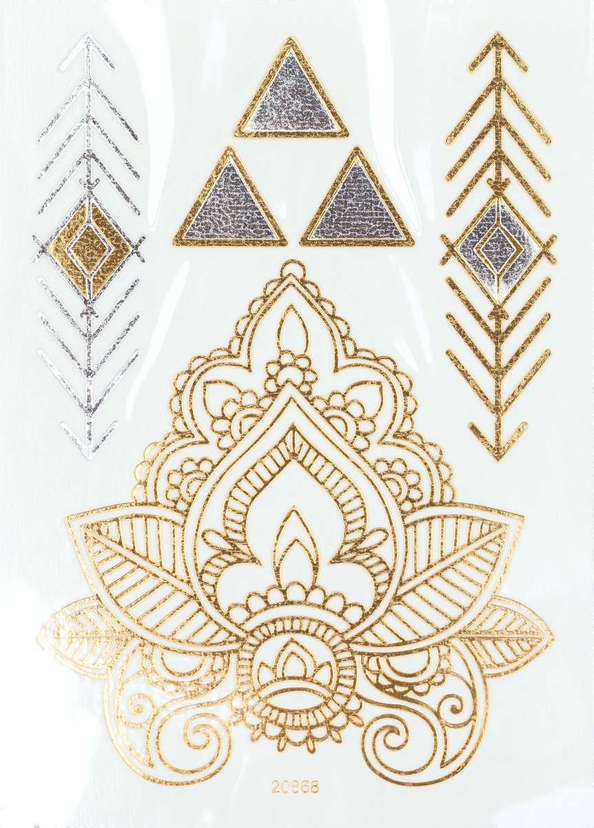 nailLOOK Переводные татуировки для тела, 7,2 см х 10,2 см. 20868 naillook переводные татуировки для кутикулы 12 8 см х 8 см