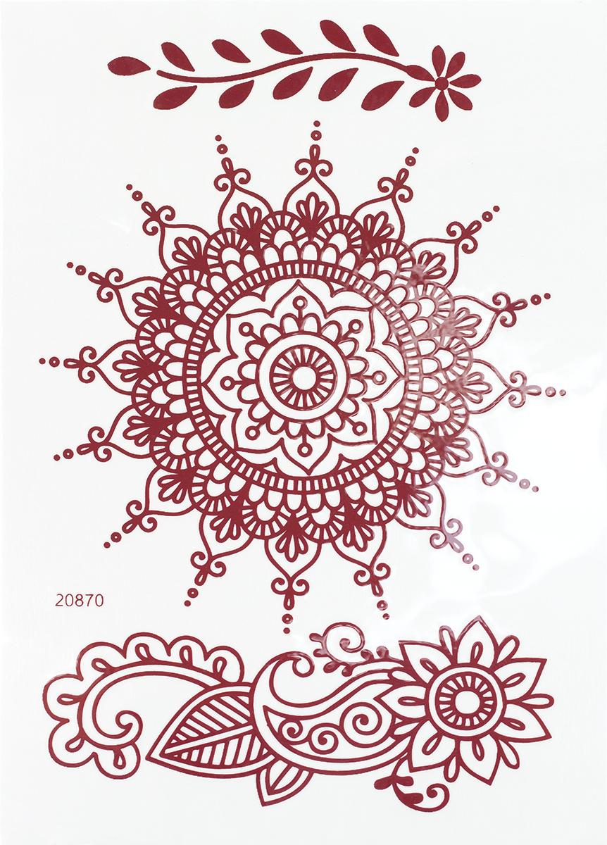 nailLOOK Переводные татуировки для тела, 7,2 см х 10,2 см. 20870 naillook переводные татуировки для тела 20 8 см х 14 8 см 20844