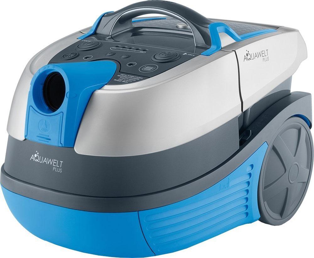 Zelmer ZVC762SPRU, Grey Blue пылесос моющийZVC762SPRUZelmer Aquawelt Plus (ZVC762SPRU) - это моющий пылесос в современном стиле со множеством практичных функций. С его помощью можно проводить сухую уборку, собирать жидкости и мокрую грязь, а также мыть ковры. Пылесос может работать как в режиме с мешком Safbag, так и с контейнером с водой - в режиме без мешка. Прибор имеет цифровое управление мощностью, а также новый мотор мощностью в 1700 Вт. О чистоте выходящего воздуха заботится двойная система фильтрации - водяной фильтр и моющийся HEPA-фильтр. Пылесос оборудован большим комплектом дополнительных аксессуаров, в частности насадкой для влажной уборки и сбора воды, щеткой для паркета с натуральным ворсом и турбощеткой для уборки нежных покрытий чувствительных к царапинам.