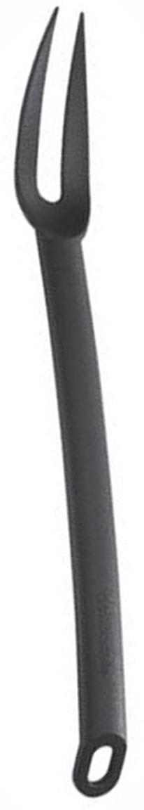 Вилка для мяса Tescoma Space Line, цвет: черный, длина 31,5 см638022Вилка для мяса Tescoma Space Line выполнена из термостойкого нейлона, который выдерживает температуру до 210°C. Это прекрасное функциональное изделие, удобное для разделывания мясных блюд и подходит для всех видов посуды, а также для посуды с антипригарным покрытием, так как не повреждает ее поверхность. Вилка оснащена эргономичной ручкой, которая не скользит в руках и делает ее использование удобным и безопасным. Ручка снабжена специальным отверстием для подвешивания.Вилка для мяса Tescoma Space Line займет достойное место среди аксессуаров на вашей кухне.Можно мыть в посудомоечной машине.