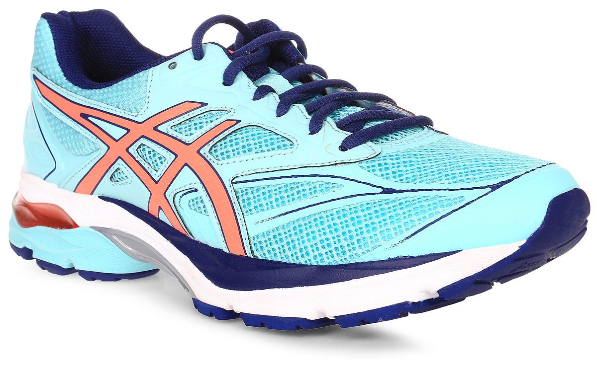 Кроссовки для бега женские Asics Gel-Pulse 8, цвет: голубой. T6E6N-6706. Размер 10H (41)T6E6N-6706Пробегайте любимые маршруты быстрее в удобных кроссовках Asics Gel-Pulse 8. Эти женские беговые кроссовки имеют амортизацию в задней и передней части подошвы и смягчают каждое приземление стопы. Вашей ноге легче и приятнее отталкиваться от земли благодаря средней подошве Super SpEVA с отличной отдачей, что позволяет бегать быстрее и эффективнее. Невероятный комфорт благодаря упругой средней подошве и видимой амортизационной прослойке GEL. Высокая эффективность бега благодаря гибким бороздкам, направляющим каждое движение ноги. Спокойный и комфортный бег благодаря прекрасной отдаче от средней подошвы Super SpEVA.
