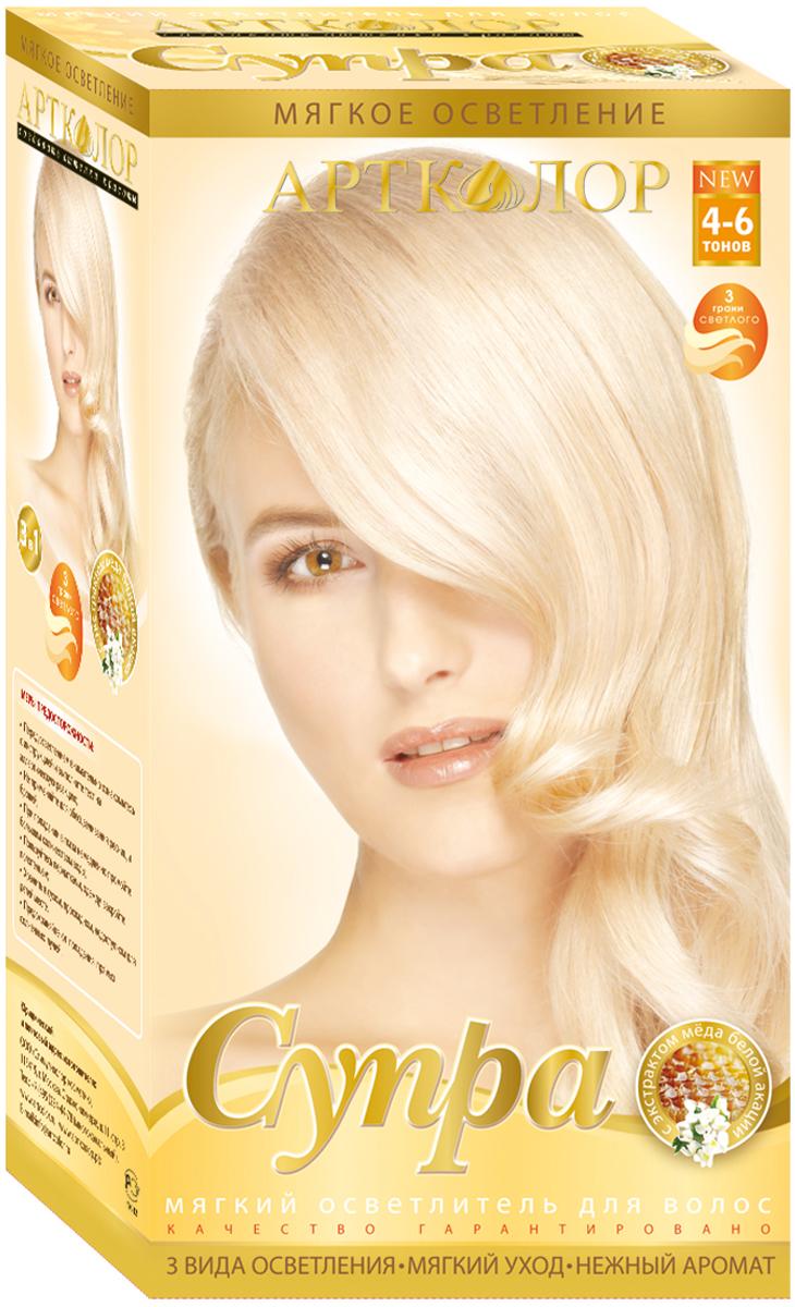 Артколор Супра осветлитель для волос, 3в1, с экстрактом меда белой акации, 30г/60 мл синтезаторы супра