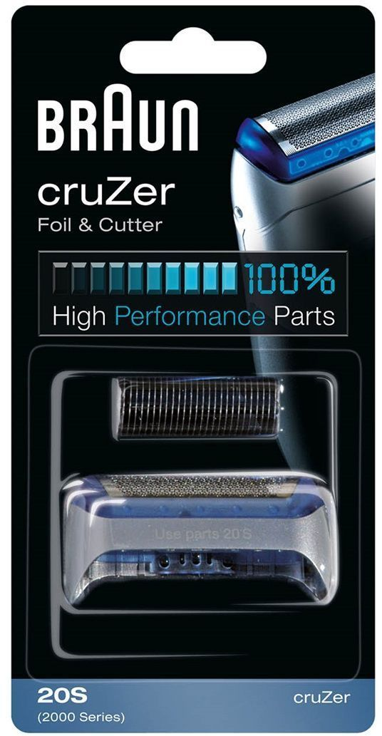 Braun 20S сетка + режущий блок CruZer braun 7681 se