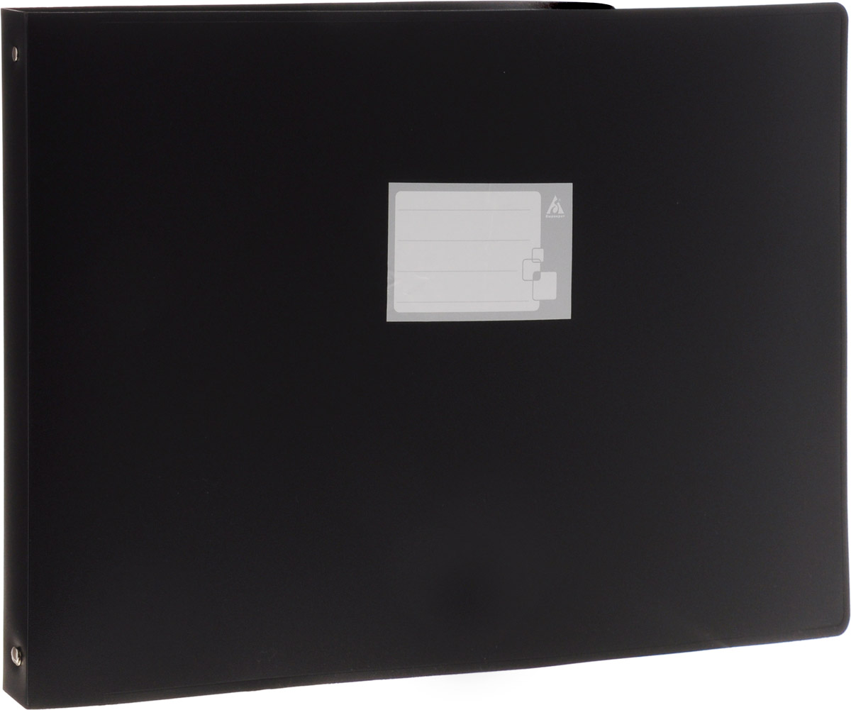 Бюрократ Папка на 4-х кольцах горизонтальная формат А3 цвет черный816569