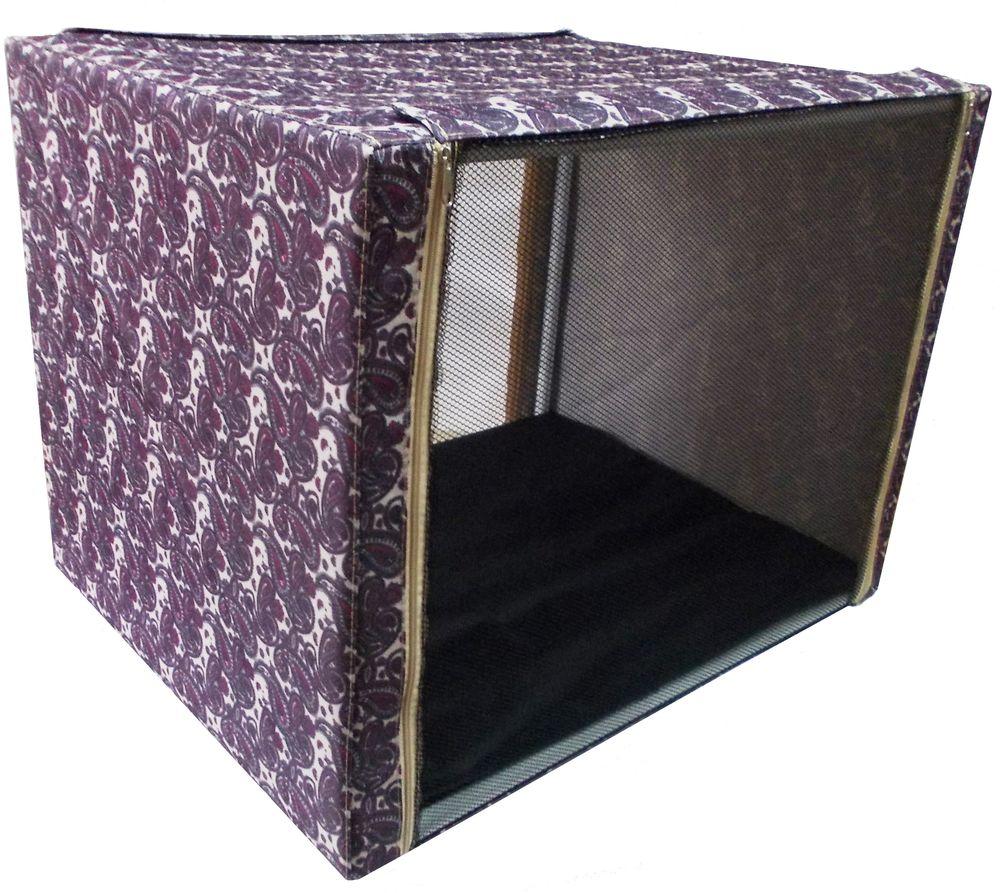 Клетка для животных  Заря-плюс , выставочная, с чехлом, цвет: бордовый, 76 х 56 х 56 см - Клетки, вольеры, будки