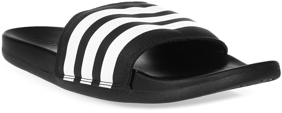 Шлепанцы мужские adidas Adilette CF+, цвет: черный, белый. AQ4935. Размер 8 (40,5)AQ4935Сланцы Adidas Adilette Cf+ Cblack. Основание cloudfoam ultra обеспечивает мягкость и удобство. Ремешок из синтетических материалов. Удобная текстильная подкладка.Основание cloudfoam ultra для мягкой и гибкой амортизации. Подошва из ЭВА для мягкой амортизации.