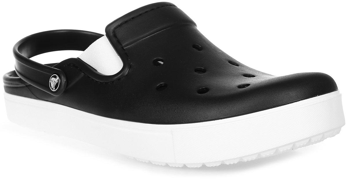 Купить Сабо Crocs CitiLane Clog, цвет: черный. 201831-066. Размер 12 (44/45 )