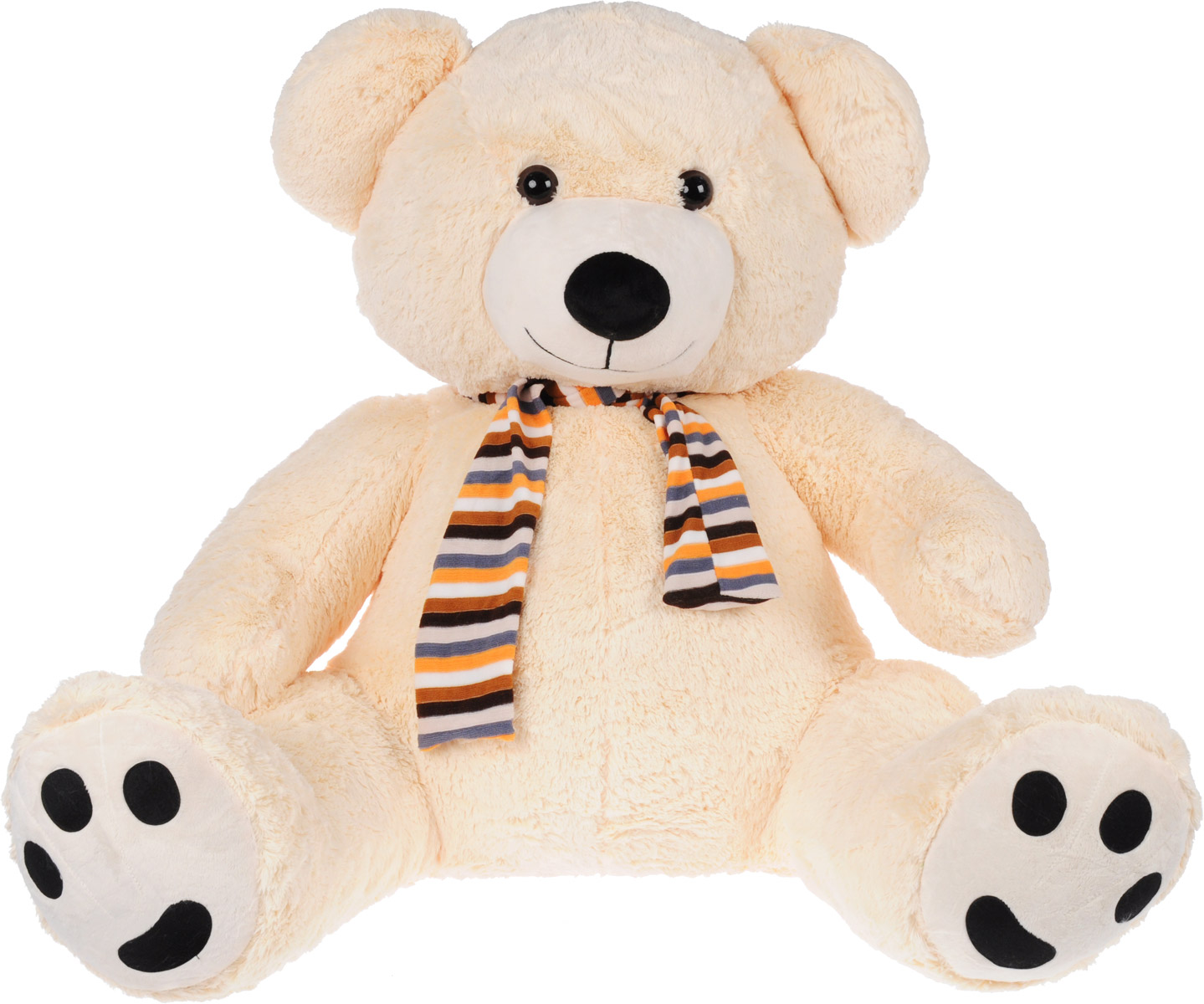Magic Bear Toys Мягкая игрушка Медведь в шарфе цвет кремовый 120 см