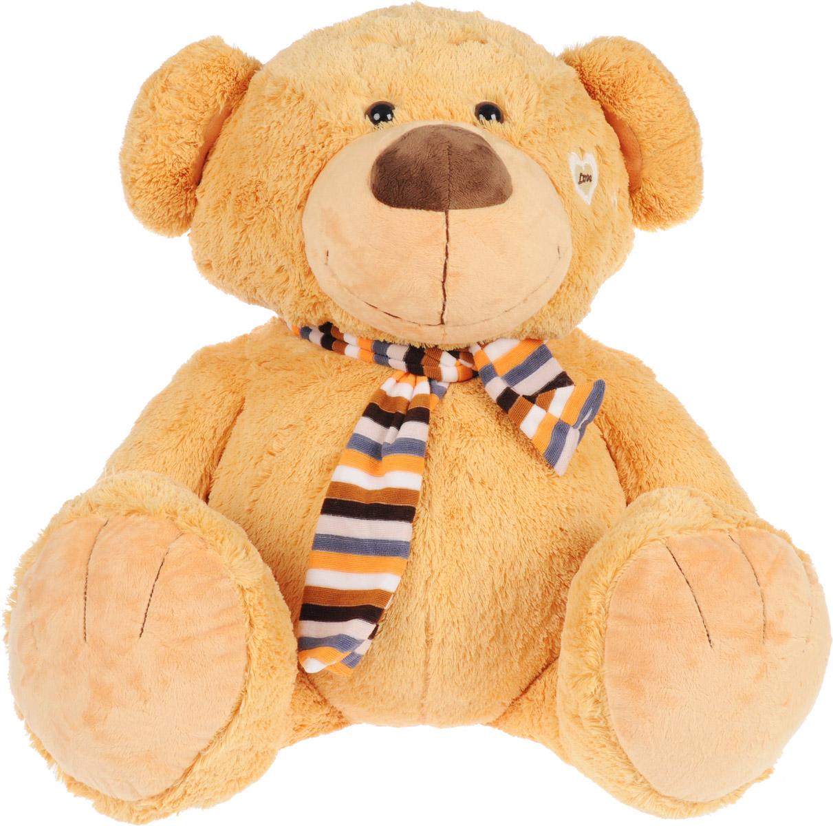 Magic Bear Toys Мягкая игрушка Медвежонок в шарфе 80 см magic bear toys мягкая игрушка ослик чарли 27 см