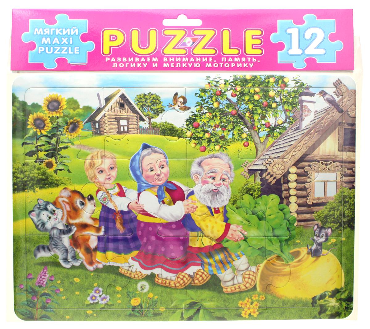 Фламинго Пазл для малышей Репка развивающие деревянные игрушки пазл для малышей репка 4 в 1