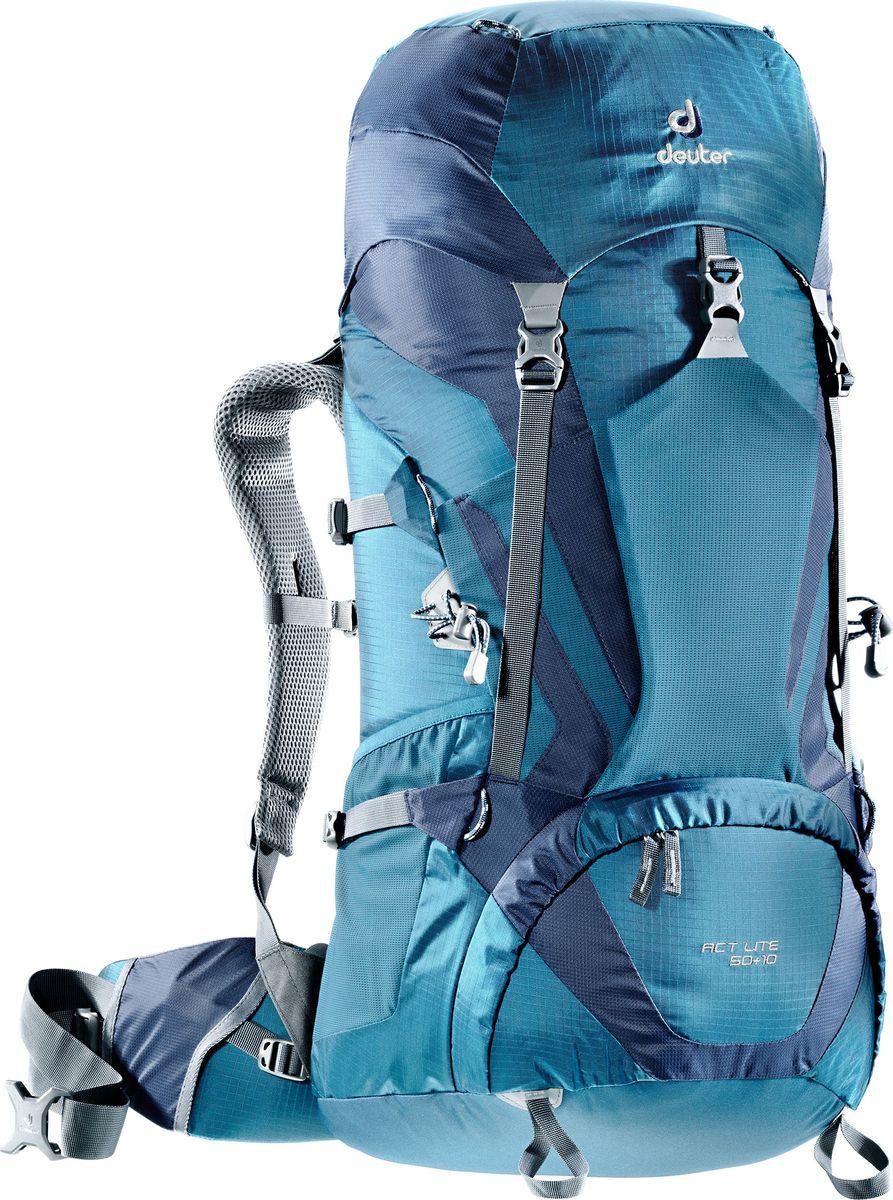Рюкзак туристический Deuter ACT Lite, цвет: темно-синий, 50+10 л deuter act lite 45 10 sl