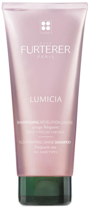 Rene Furterer Lumicia Шампунь для придания блеска, 200 мл3282770073904Шампунь в привлекательной женственной упаковке, с чувственным ароматом и легкой перламутровой текстурой для идеального блеска волос. Без силиконов. Рекомендуется для всех типов волос. Мягко очищает волосы и борется с их тусклостью. Нейтрализует известняк, содержащийся в воде. Сглаживает чешуйки волос. В результате волосы идеально очищены и послушны без потери объема. Они обрели непревзойдённый блеск.