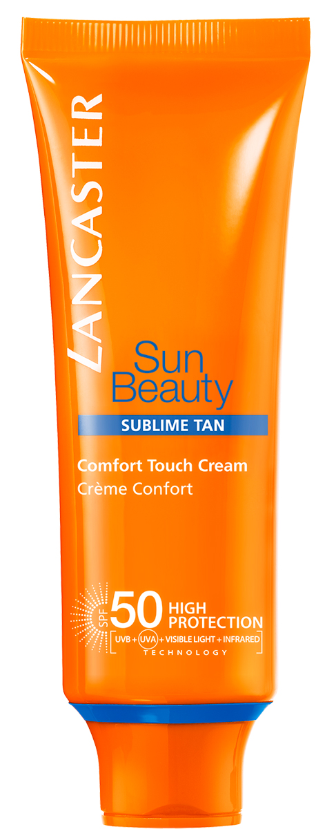 Lancaster Sun Beauty Care Крем-комфорт Сияющий загар spf 50, 50 мл lancaster sun beauty care шелковистое масло быстрый загар spf 30 150 мл