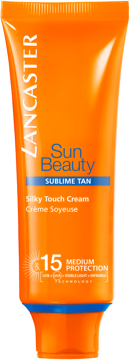 Lancaster Sun Beauty Care Крем легкий Сияющий загар spf 15, 50 мл lancaster sun care масло шелковистое для тела для усиления загара spf30 sun care масло шелковистое для тела для усиления загара spf30