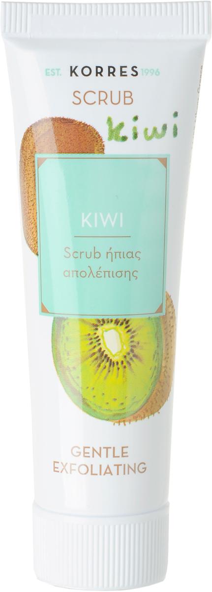 Korres Еженедельное очищение Нежный очищающий скраб Киви, 18 мл5203069055287Нежный скраб с гелевой текстурой для нормальной и сухой кожи. Устраняет омертвевшие клетки на поверхности кожи, придавая ей гладкость и сияние. Не раздражает кожу.