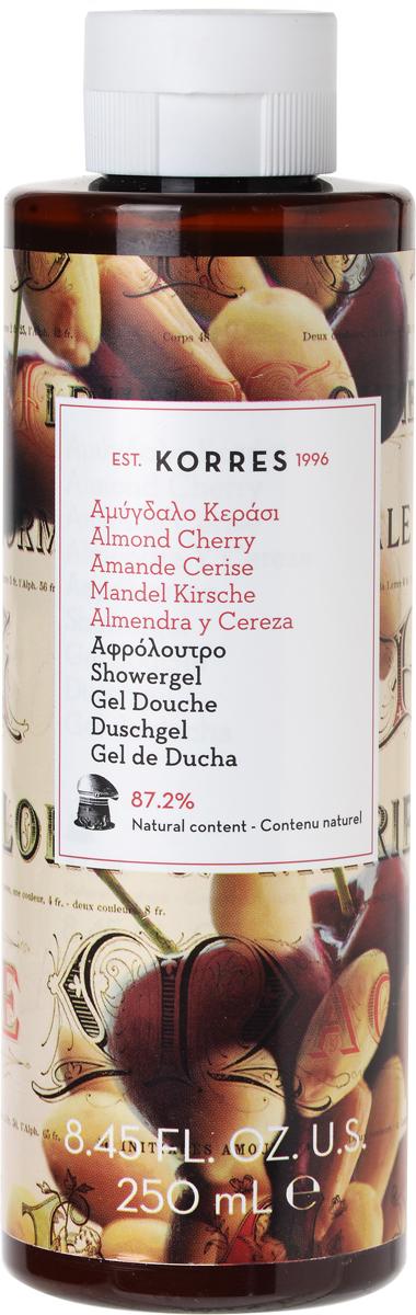 Korres Гель для душа Миндаль и вишня, 250 мл гель для душа korres shower gel mango
