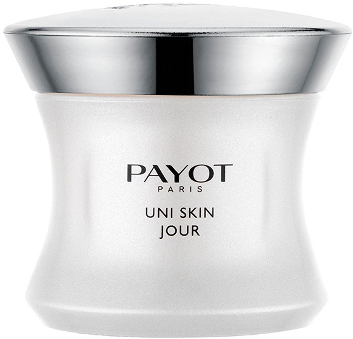 Payot Uni Skin Выравнивающий совершенствующий крем, 50 мл65109910Крем борется с нарушениями жизнедеятельности клеток, вызывающими изменения тона кожи (пигментные пятна, тусклый цвет лица, следы от акне, покраснения). Повышает способность кожи отражать свет и возвращает ей сияние. Защищает от плохой экологии и солнечных лучей. Фильтры SPF15 усилены UVA-защитой для профилактики появления неоднородности тона.