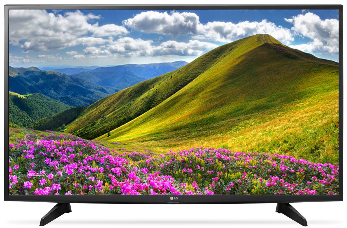 LG 43LJ510V телевизор90000002058С LG 43LJ510V вы можете воспроизводить фильмы, музыку и фото максимально удобным способом — прямо с USB-флэшки или жесткого диска.Телевизор оснащен портами HDMI — для максимального качества звука и картинки. HDMI — это мультимедийный интерфейс высокой четкости. Единый стандарт HDMI позволяет получать новому телевизору LG максимально четкий аудио и видеосигнал.По-новому глубокие и насыщенные цвета. Помимо улучшения цветопередачи, уникальные технологии обработки изображения отвечают за регулировку тона, насыщенности и яркости.Революционное качество изображения и цвета. Разрешение Full HD 1080p отвечает стандартам высокой четкости, отображая на экране 1080 (прогрессивных) линий разрешения, для более четкого и детального изображения.Улучшить изображение? Запросто! При использовании механизма масштабирования разрешения Resolution Upscaler изображения любого качества выглядят существенно лучше.Virtual Surround — звук, меняющий реальность. Функция Virtual Surround создает реалистичный, объемный звук. Вы словно переноситесь в новую реальность, где ярко ощущаются все биты и полутона.Встроенные игры для яркого отдыха. С LG 43LJ510V вам доступно максимум развлечений. Больше бесплатных игр для вашего нового телевизора — на официальном сайте LG.