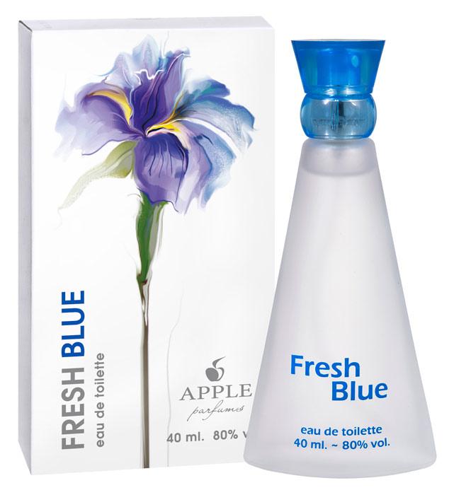 Apple Parfums Туалетная вода Fresh Blue женская 40ml33769Начальные ноты:яблоко, белый кедр, колокольчик, лимон. Ноты сердца:белая роза, бамбук, жасмин. Базовые ноты:амбра, мускус, белый кедр