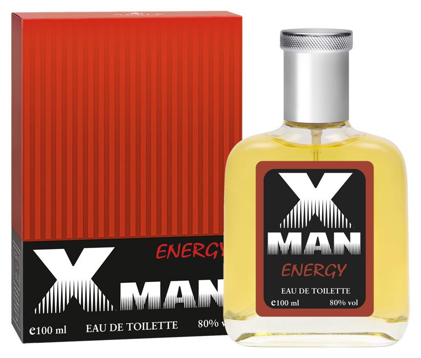 Apple Parfums Туалетная вода X Man Energy мужская 100ml43213Начальные ноты:мандарин, апельсин, альдегиды, морские ноты. Ноты сердца:белый кедр, перец, нероли. Базовые ноты:бобы тонка, амбра, ветивер, ваниль, элеми, мускус