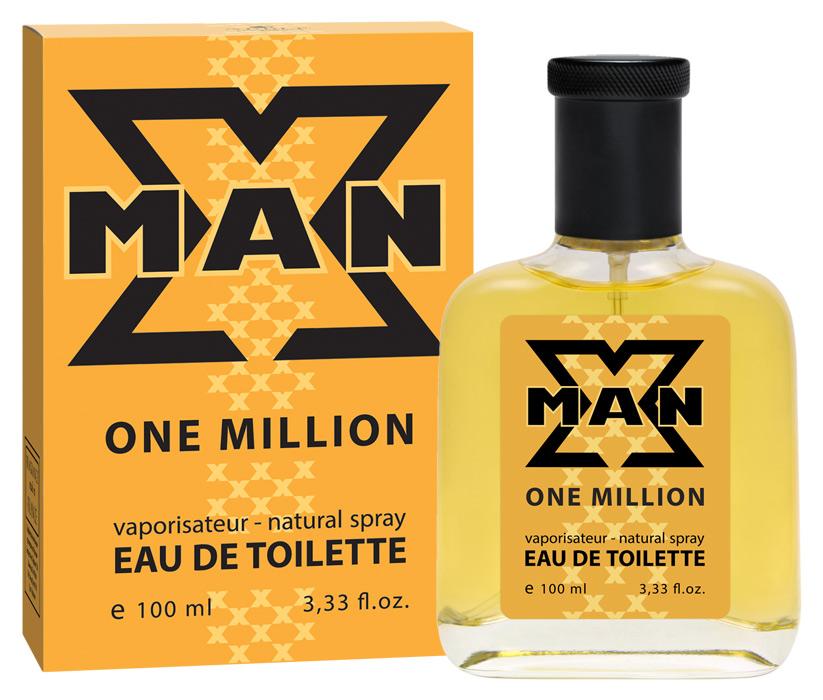 Apple Parfums Туалетная вода X Man One Million мужская 100ml43209Начальные ноты:красный мандарин, грейпфрут, мята. Ноты сердца:роза, корица, специи. Базовые ноты:кожа, древесные ноты, амбра, пачулиКраткий гид по парфюмерии: виды, ноты, ароматы, советы по выбору. Статья OZON Гид