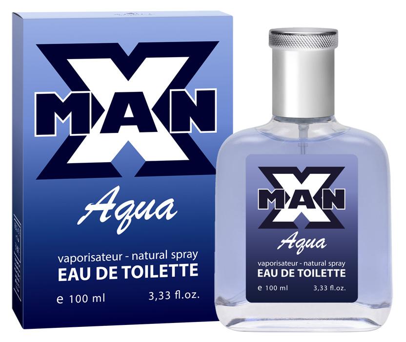 Apple Parfums Туалетная вода X man Aqua мужская 100ml43207Начальные ноты:морские ноты, мята, розмарин, лаванда. Ноты сердца:жасмин, сандал, нероли, герань. Базовые ноты:дубовый мох, мускус, табак, амбра, кедр