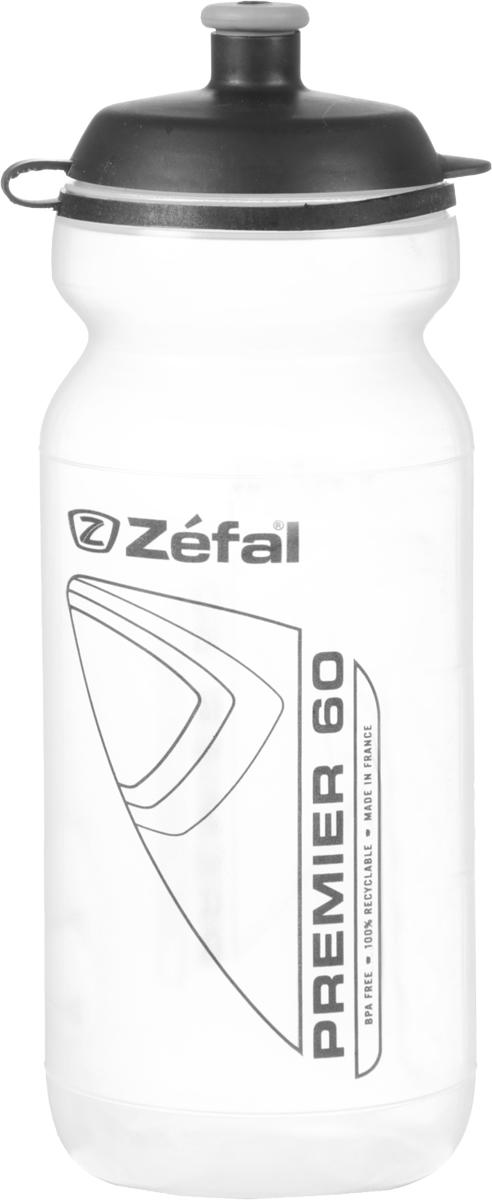Фляга велосипедная Zefal Premier 60, цвет: прозрачный, 600 мл фляга велосипедная zefal premier 60 цвет синий белый 600 мл