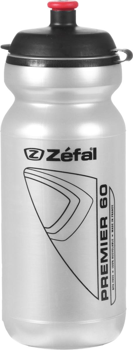 Фляга велосипедная Zefal Premier 60, цвет: серый металлик, 600 мл фляга велосипедная zefal premier 60 цвет синий белый 600 мл