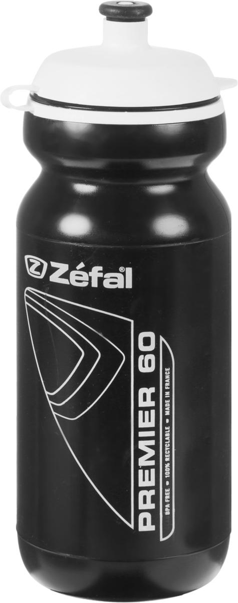 Фляга велосипедная Zefal Premier 60, цвет: черный, 600 мл фляга велосипедная zefal premier 60 цвет синий белый 600 мл