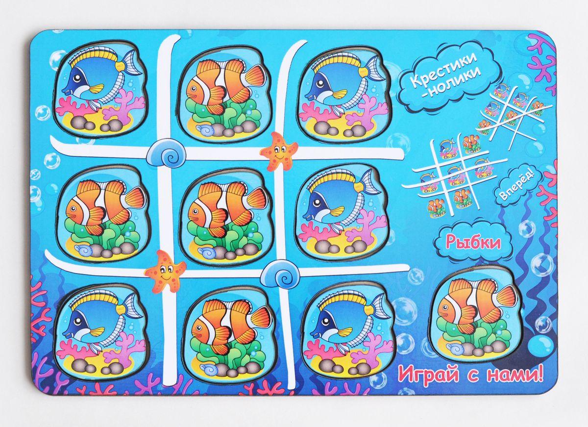 Игрушки Тимбергрупп Обучающая игра Крестики-нолики Водный мир развивающие деревянные игрушки обучающая игра крестики нолики классика