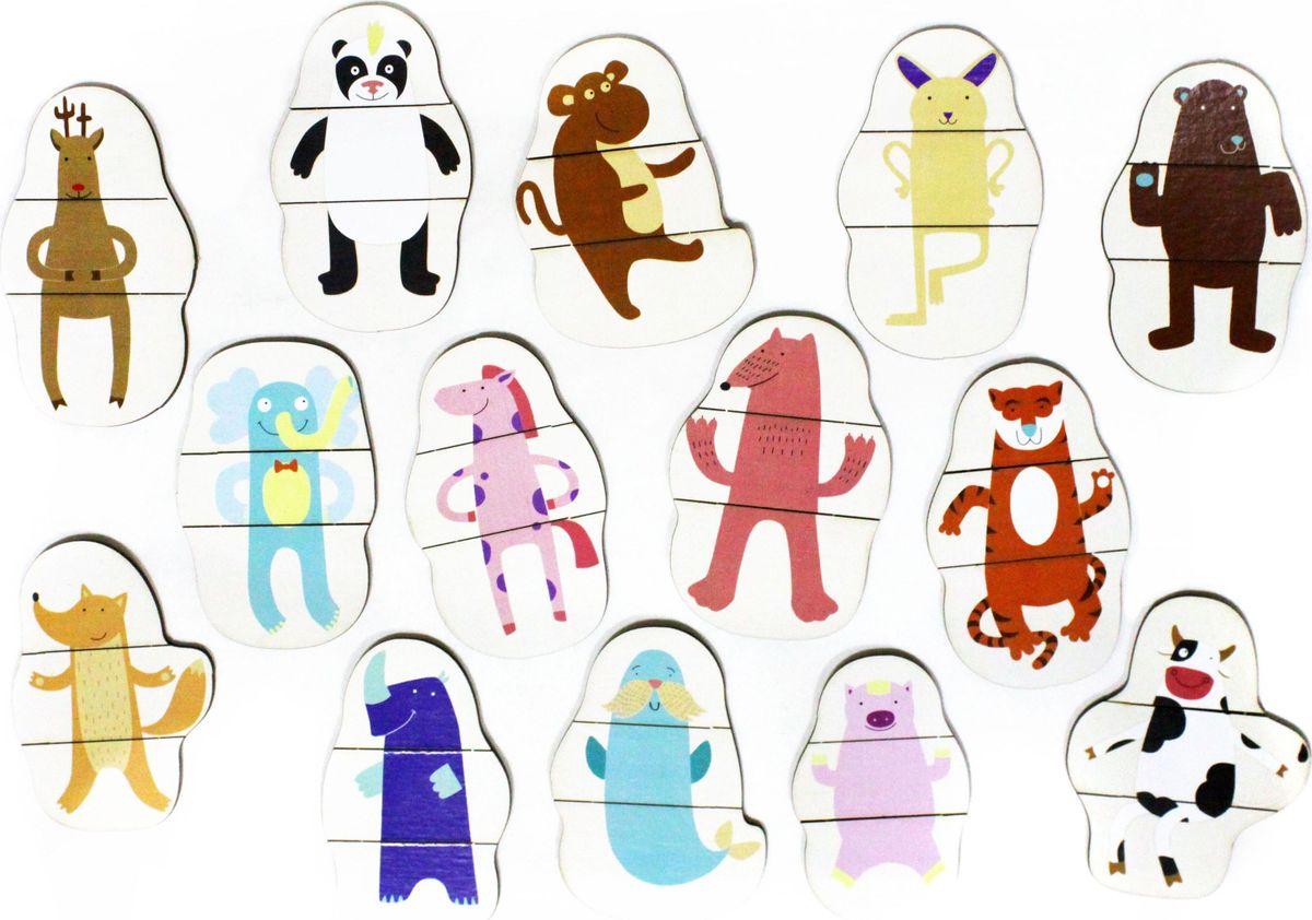 Игрушки Тимбергрупп Развивающая игра-пазл Придумай зверюшку игрушки тимбергрупп пазл для малышей цвета