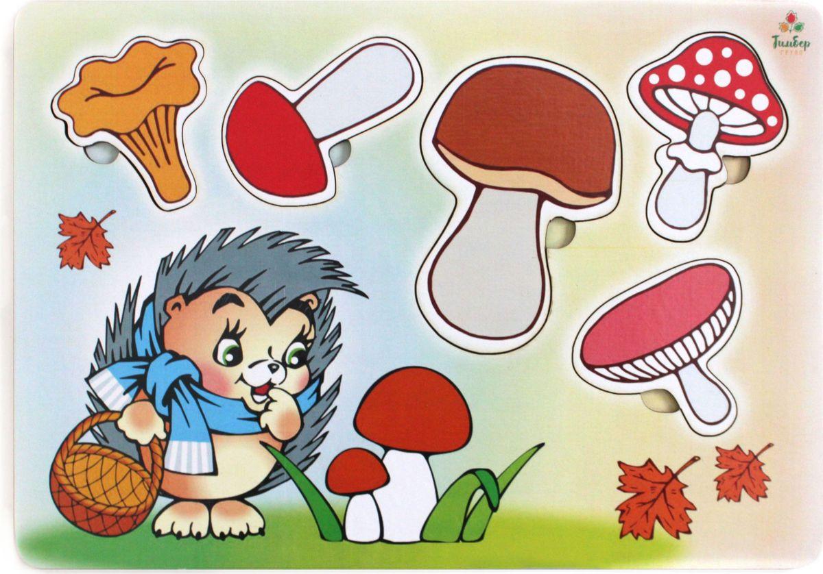 Игрушки Тимбергрупп Рамка-вкладыш Учим Грибы рос джанин еда не проблема как оставться в мире с собой и собственным телом